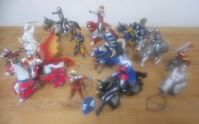 Schleich & Papo knights, horses and dragons bundle joblot