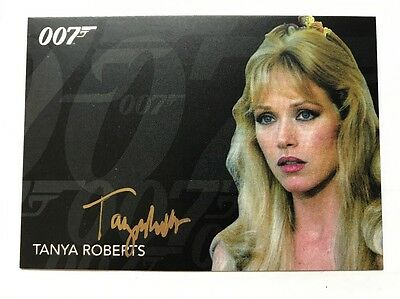 James Bond 007 Archives Final Edition Tanya Roberts Gold Autograph Card