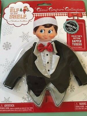 Claus Couture Elf on the Shelf Tuxedo Outfit NEW in package
