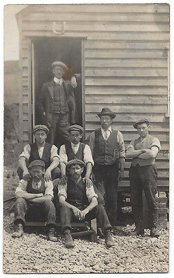 Group of Workmen RP Postcard c1920,Unused