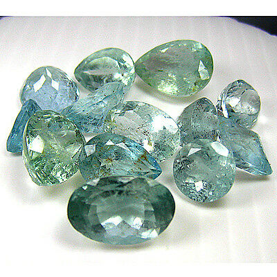 88.78 Ct 13 Pc Dazzling Huge 100% Natural  Aquamarine
