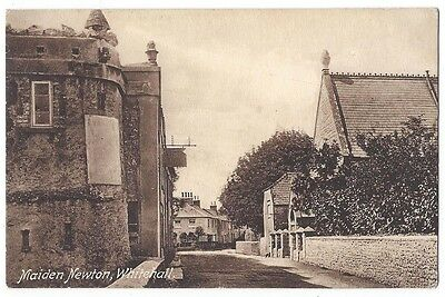 MAIDEN NEWTON Whitehall, Old Postcard by Frith Postally Used 1917