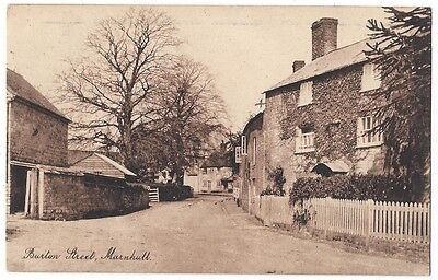 MARNHULL Burton Street, Old Postcard by White, Postally Used 1922, Marnhull p/m