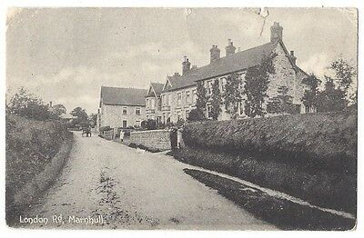 MARNHULL London Road, Old Postcard by White Postally Used 1908