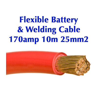 Flexible Marine Welding Battery Cable 25mm2 170amp 10m