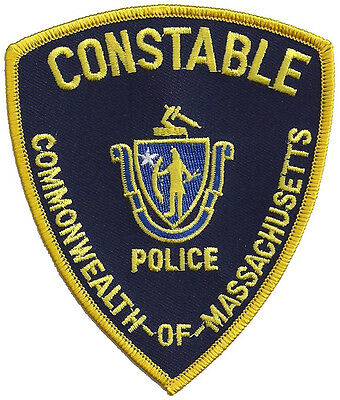 """Commonwealth of Massachusetts Constable Police Shoulder Patch 4 1/2""""T x 3 3/4""""W"""