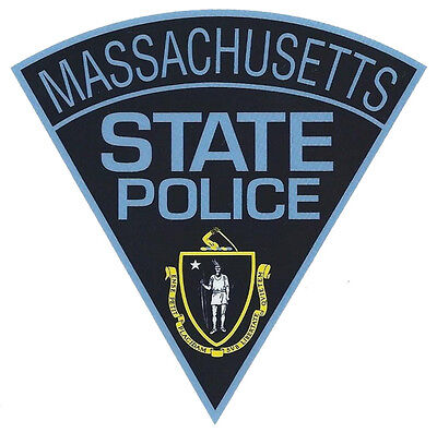 Massachusetts State Police Patch Shape Decal - 4 inches by 4 inches - NEW