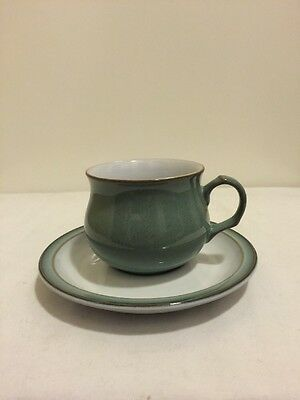 Denby China Stoneware Regency Green Cup and Saucer Perfect condition!