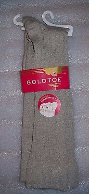 Girls Gold Toe Knee High Socks 2 Pairs Per Pack Size Med Khaki New With Tags