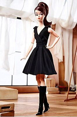Classic Black Dress Barbie® Silkstone Doll (Brunette) MINT