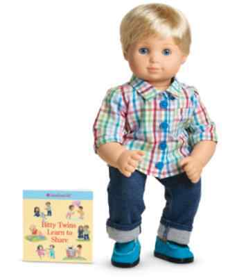 American Girl Bitty Twin Boy Rainbow Plaid Outfit New in Box Retired Meet Outfit
