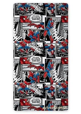 MARVEL SPIDER MAN 03 SINGLE FITTED SHEET 90cm x 200cm 100% COTTON