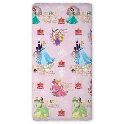 Disney PRINCESS Cinderella Ariel SINGLE FITTED SHEET 90cm x 200cm 100% COTTON