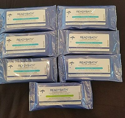 Readybath total body bathing system wipes 6 unscented 1 scented
