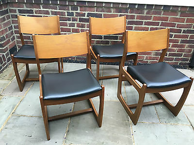 Set of 4 G Plan Style Dining Chairs Retro Vintage Mid Century Teak