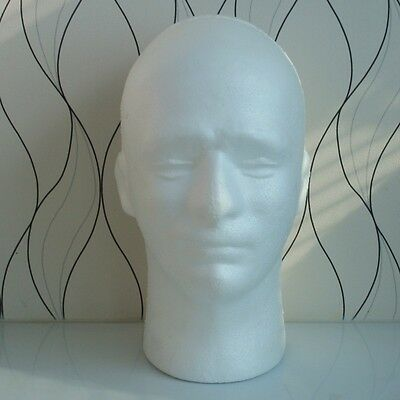Male Mannequin Salon Heads Hairdressing Foam Manikin Head Model Display Stand