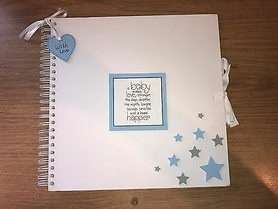 Handmade Personalised Baby Boy Scrapbook / Photo Album / Memory Book / Gift