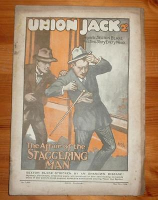 UNION JACK No 1282 12TH MAY 1928 THE AFFAIR OF THE STAGGERING MAN SEXTON BLAKE