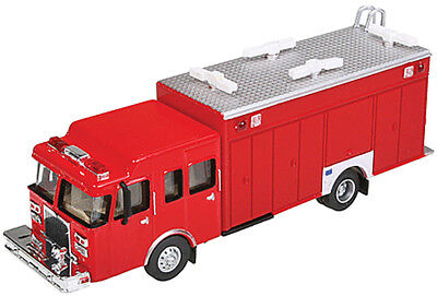 Walthers HO Scale Hazardous Material Fire Department Truck Red Emergency Vehicle