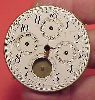 VINTAGE HUNTING MOONPHASE 1/4 REPEATER 49MM Pocket Watch MOVEMENT
