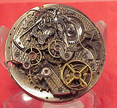 #2 VINTAGE HUNTING MINUTE REPEATER 44MM Pocket Watch MOVEMENT