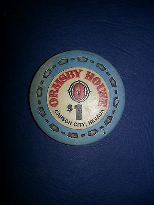 Ormsby House $1 Casino Chip Carson City Nevada Sm-Crown Mold 1972 FREE SHIPPING