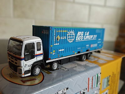 N Scale Tomytec Truck Collection 9 #5 Big 14 Eco Liner 31 Blue