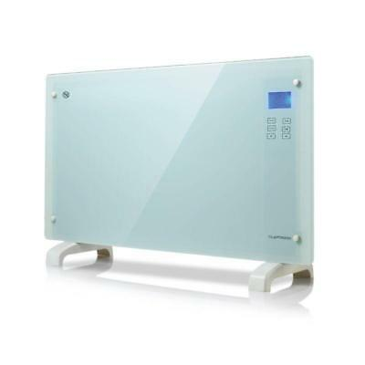 Touch Panel Portable Convection Heater 2000W White Glass Wall Mounted Free Stand
