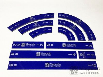 X-WING Tabletop Movement Maneuver Schablonen Template Set - Acryl - blau