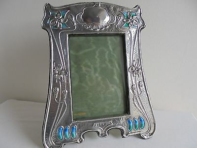 Edwardian 1905 - Arts & Crafts - Silver & Enamel - Photo Frame
