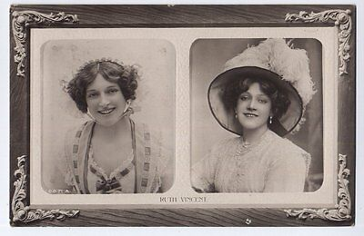 Miss Ruth Vincent Actress vintage Rotary Real Photo Postcard - 1911