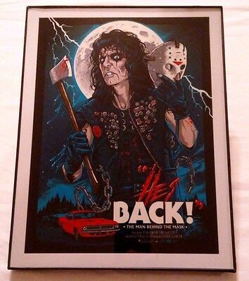 Framed Movie Poster Print : He's Back The Man Behind The Mask Alice Cooper ! NEW