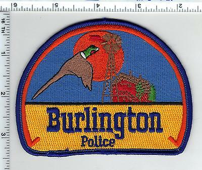 Burlington Police (Colorado) Shoulder Patch - new from the 1980's