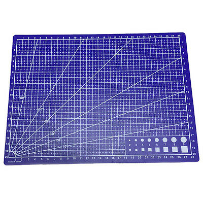 A4 Grid Lines Cutting mat Craft Card Fabric Leather Paper Board 30*22cm A3F6