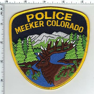 Meeker Police (Colorado) Shoulder Patch - new from the 1980's