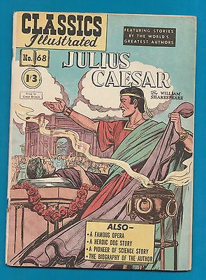 Classics Illustrated Comic Julius Caesar  William Shakespeare  early edition#879