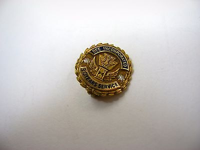 Vintage Collectible Pin Award: 14K Gold Diamond Chips BEE Incorporated 30 Years