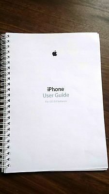 ~PRINTED~ iPhone 6 iOS  8.4 user guide instruction manual  COLOUR A4 or A5