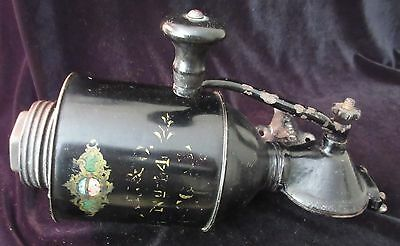 VINTAGE REGAL L.F.&C. No. 44 CAST IRON & TIN WALL MOUNT COFFEE GRINDER
