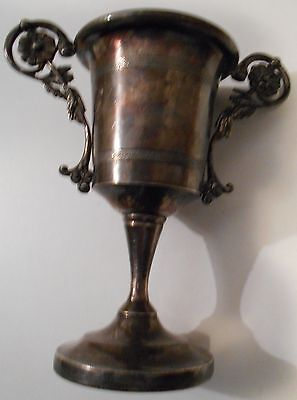 Early Antique English Silver Plate Trophy Cup 576