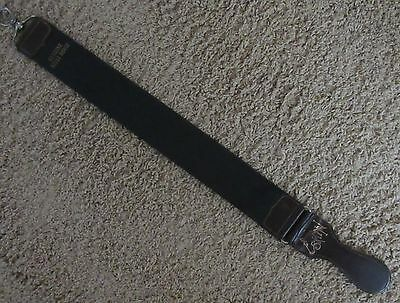 ENGLISH MADE VINTAGE 'THE SCORCHER' HORSE LEATHER STROP for STRAIGHT RAZORS