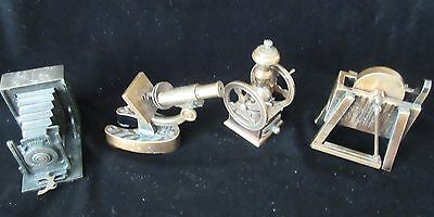 Four Vintage Made In Spain Decorative Pencil Sharpeners 3-Emb / 1-Play/me