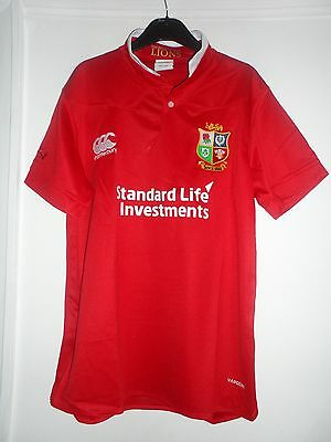 British And Irish Lions Rugby Shirt Size  L New