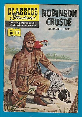 Classics Illustrated Comic Book #10 Robinson Crusoe  #733