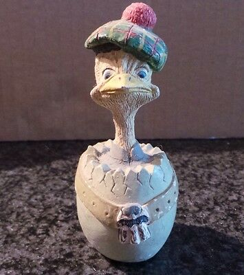 Vintage Collectible Eggbert by M Bowmer Ornament Figurine Scotch Egg Scottish