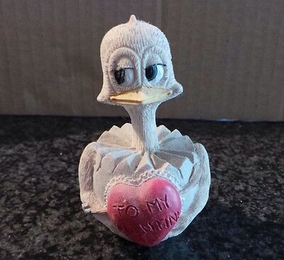 Vintage Collectible Eggbert by M Bowmer Ornament Figurine Lovey Dove Valentine H
