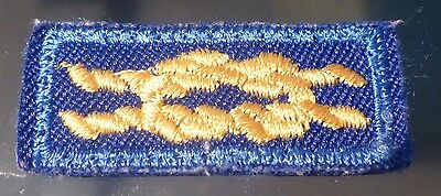 Cub Scout Den Leader Award, cloth, gold knot on blue, No. 05016