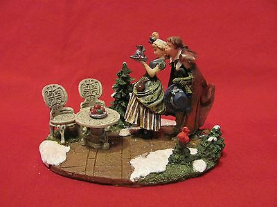 Mistletoe by Norman Rockwell Figurine Christmas Holiday Village VERY NICE