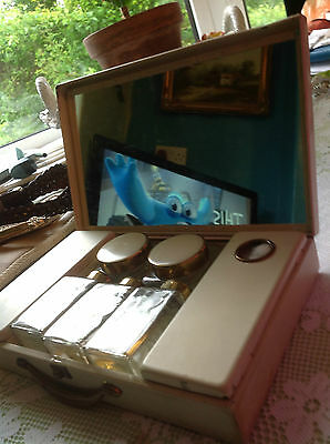1950s vintage SIRRAM beauty box - collectable dressing table set