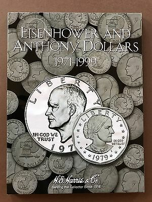 Eisenhower And Anthony Dollars 1971-1999 - Coin Album Folder Collection